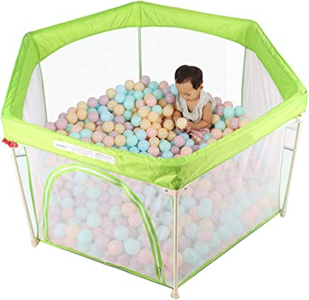 Foldable Baby Playpen  Washable Play yard for Baby Safety Play Pen for Infant and Baby  with Sturdy Bases  Anti-Skid Pads  Lightweight  Hexagon