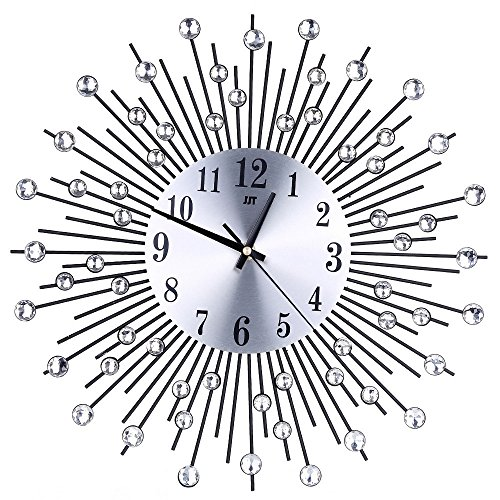 """DOGZI Wecker Digital LED Wanduhr 3D, Uhren & Wecker Batteriebetrieben, 3D Wanduhr Diamanten Nicht tickende Stille Blendende Uhr Für Home Küche Büro Durchmesser 36\"""""""