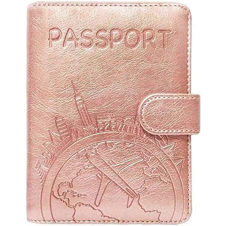 Fintie Funda para Pasaporte Billetera Cartera del Viaje de Superior Cuero Sint/ético Bolsa de Cuello Jungla Bloqueo RFID