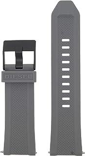Diesel LB-DZ7416 - Cinturino di ricambio per orologio, in gomma, 26 mm, colore: Grigio