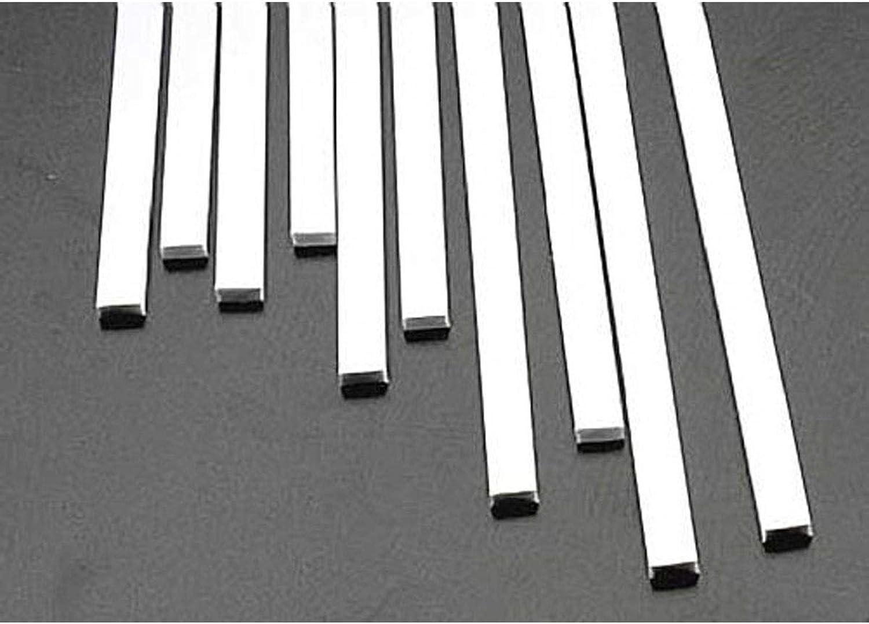 Styrene Plastic Strips -- .125 x .250 x 10  pkg(10)
