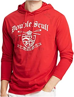 Polo Men's Long Sleeve Hooded Double Skull Graphic T-Shirt Hoodie