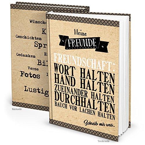 Logbuch-Verlag XXL Notizbuch Freundebuch GÄSTEBUCH DIN A4 Blanko-Buch Familie Freundschaft Freunde Geschenk Buch leere Seiten