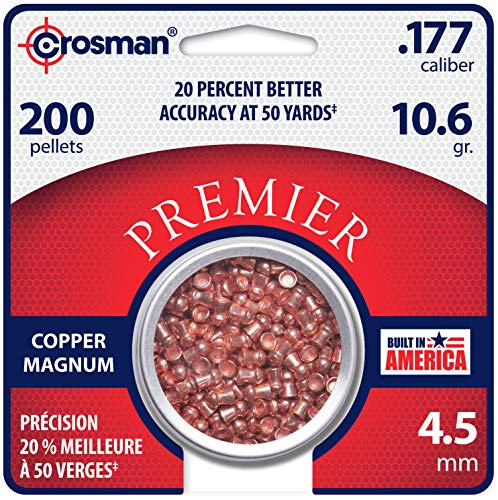 Crosman CPD77 .177-Caliber 4.5 mm Copper Magnum Domed Pellets (200-Count)