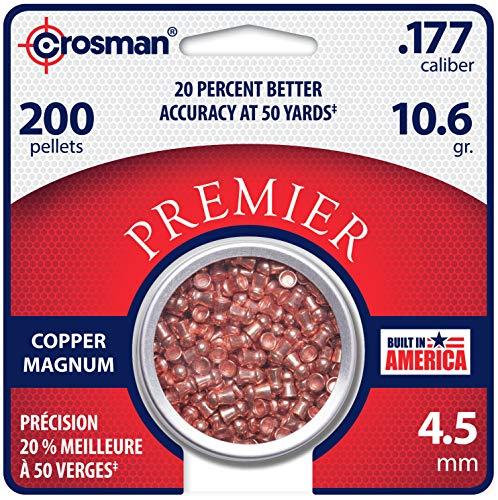 Crosman CPD77 .177-Caliber 4.5 mm Copper Magnum Domed Pellets (200-Count)