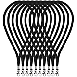 Fushing ネックストラップ 首かけ吊り下げ式 携帯 名札用 IDバッジカード キー落下防止 イベント 会社員 学生 観光客適用 45cm 100本(ブラック) [並行輸入品]