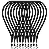 Fushing - 100 correas de cuello de 45 cm con cierre giratorio para tarjetas de identificación, insignias, llaves, empleados, estudiantes, visitantes