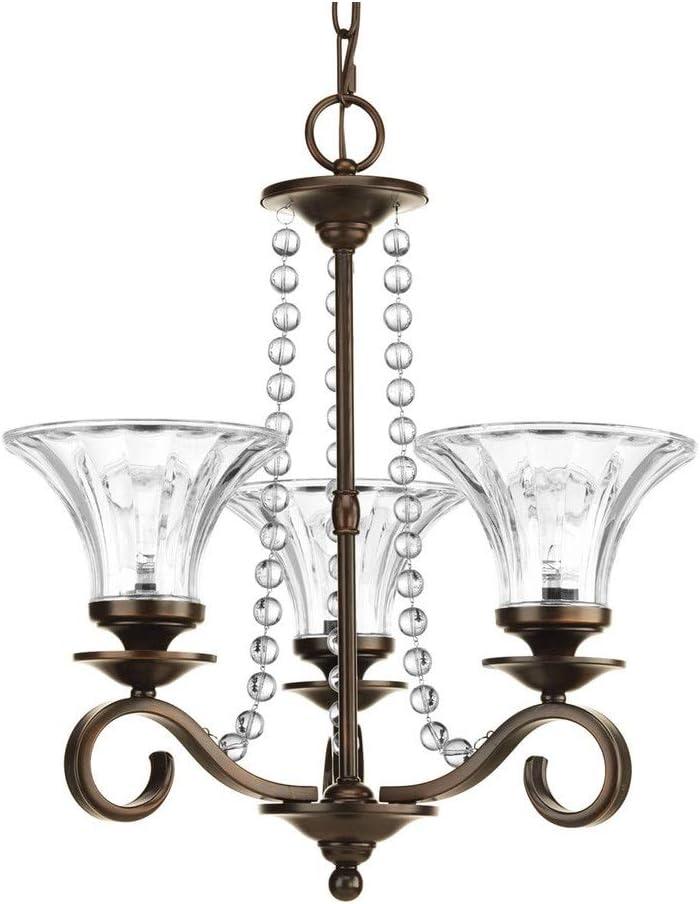 Financial sales sale Progress Lighting P4753-20 Bliss Antique online shopping Bronze 3-Light Crystal