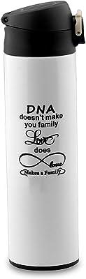 BEKECH Adoption Family Mug DNA Doesn't Make You Family Love Does Adoption Tea Mug Coffee Mug for Adoption Family Step Dad Mug Step Mom Mug (travel mug)