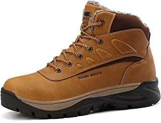 Men's Mid High Top Hiking Boot, Waterproof Non Slip Outdoor Lightweight Work Shoes Breathable Anti-Fatigue Ankle Boots