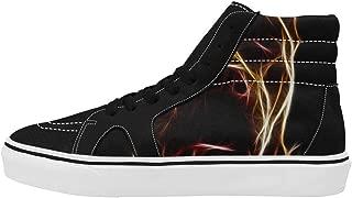 Men's High Top Canvas Shoes Casual Comfort Shoes Men Boy Prints