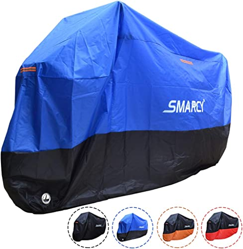 Housses de moto imperm/éable,Mesurez 245 x 105 x 125cm 190T Motorcycle Trolley Cover anti-UV anti-reflets Scooters pour lext/érieur 2 trous de serrage