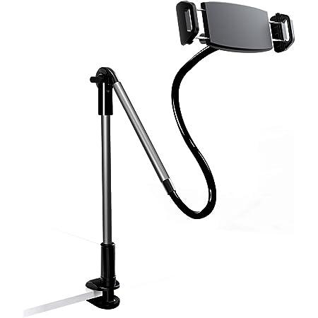 Yoobao タブレット スタンド スマホ ホルダー アーム 卓上 ベッド 寝ながら 360度回転 関節付き 高さ/角度調節しやすい iPhone iPad 4.7~12.9インチ対応 安定 ブラック
