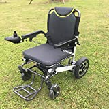 YIONGA CAIJINJIN Electric Rollstuhl Elektrische Folding Günstigste Behinderte Faltkraft Elektrische Rollstuhlpreise für Behinderte (Color : Silver)