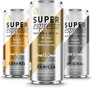 Sponsored Ad - Kitu Super Espresso, SugarFree Keto Coffee Cans (0g Sugar, 5g Protein, 35 Calories) [Variety Pack] 6 Fl Oz,...