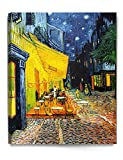 DECORARTS - Cafe Terrace at Night, Vincent Van Gogh Art Reproduction. Giclee Canvas Prints Wall Art for Home Decor 30x24 x1.5