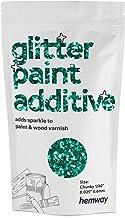 """Hemway Glitter verf additief Chunky 1/40 """"0.6mm emulsie watergedragen verf muur plafond 100g/3.5oz (Turquoise)"""