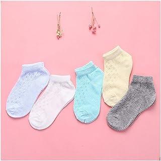 lejia, 5 Pair/Lot del algodón de los bebés de los niños Calcetines de los niños Niños de Malla Respirable Fina Ropa del Verano del Regalo (Color : Style 1 Boys, tamaño : 0 to 2 Years)
