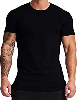 Mens Lightweight Cotton Workout Short Sleeve T-Shirts Essential Training Tee T22