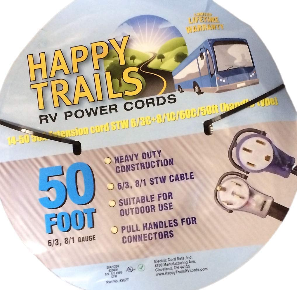 SEAL limited product 50 amp - ft RV Extension Lighted Pull Handles and Cord Max 69% OFF with