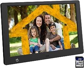 Ausemku Digital Photo Frame 10 inch 1024 x 600 IPS Screen Digital Picture Frame+32GB SD Card-Full HD Digital Photo & Video Frame with Motion Sensor, Slideshow, Calendar Function & USB/SD Card Slots
