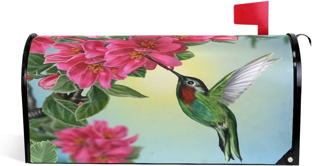 WOOR Hummingbird and Flowers Mailbox High quality NEW before selling Cover Magnetic Sta