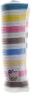 DK Glovesheets Baby Blanket for Prams/Cribs/Moses Baskets (Girl Pink/Sky/Grey/Yellow/White)