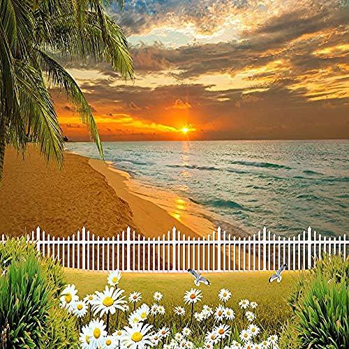 XHXI Kreative schöne Sonnenuntergang Himmel Strand Ozean Landschaft Kunstdruck Foto Tapete große Poster Wanddekorat Wanddekoration fototapete 3d Tapete effekt Vlies wandbild Schlafzimmer-400cm×280cm
