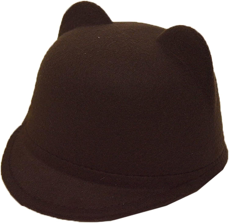 AOBRICON Cute Hat Wool Berets for Women Equestrian Hats Ear Caps Fedoras Cap for Men Women Girl