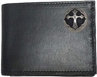 Custom Brown Harness Leather Flip ID Bi-fold Wallet American Made
