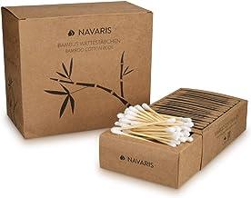 Navaris Cotton Fioc Bambù e Cotone - 800x Bastoncini 100% biodegradabili vegano - Zero plastica - 4 scatole in cartone riciclato da 200 pz. Ecologico