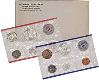1962 - US Mint 10-Coin Uncirculated Silver P&D Mint Coin Set BU