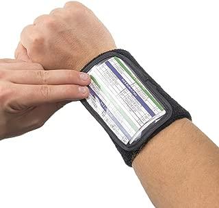 Crown Sporting Goods Football Quarterback Triple Insert Playbook Wristband, Multi-Sport Play Holder