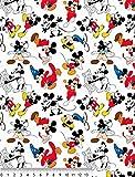 Disney Stoffe, Baumwollstoffe, MICKEY MOUSE ETAPAS Stoffe,