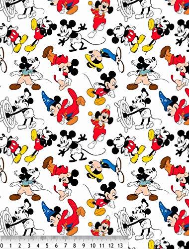 telas de disney, telas de algodón, tela de MICKEY MOUSE ETAPAS, telas para manualidades, laboras, patchork, telas por metros, 1 metro x 145 cms, telas infanties, ENVÍOS GRATUITOS