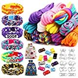 ccooly Paracord Friendship Bracelet Making Kit - DIY Bracelets Kit with Charms for Kids - Make Your Own Paracord Bracelets for Age 8-12 Years Old Boys and Girls, Crafts and Birthday Gifts
