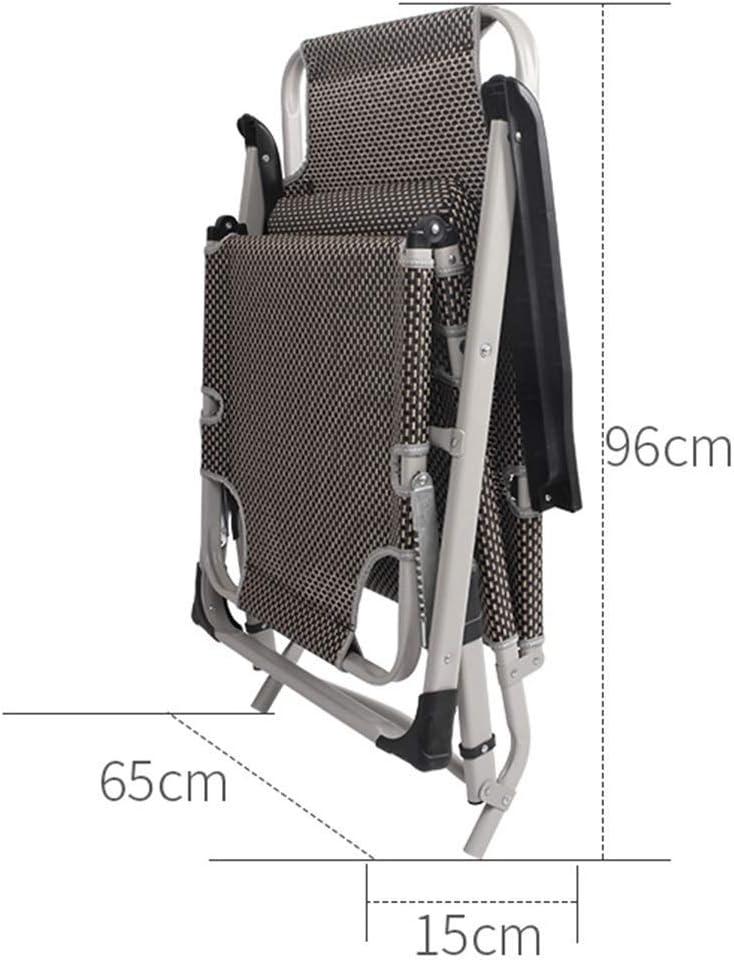JHSHENGSHI Chaise de Camping, chaises zéro gravité, Chaise Longue, Chaise Longue inclinable de Jardin, lit d'escorte médical, Chaise inclinable extérieure (Couleur: B) B