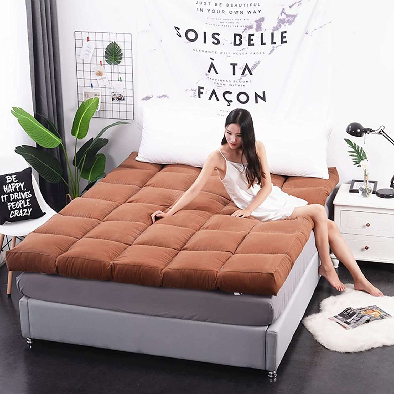 Folded 10cm Thick Mattress, Super Soft Japanese Tatami futon Cushion, 3D Quilted Breathable Mattress Cushion,B,120×200cm