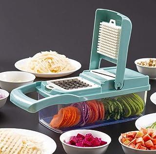 GJJSZ Coupe-légumes Trancheuse,Hachoir à légumes,Machine de découpe de légumes,Accessoires de Cuisine Trancheuse à Mandoli...