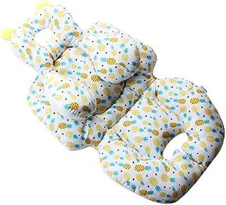 LJQLXJ Asiento de Bebe Soporte Corporal para la Cabeza del bebé para la Cubierta del Asiento del Coche, Cojines para cochecitos portátiles, Asiento de Seguridad Elevador de Viaje para niños, piña