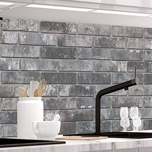 StickerProfis Küchenrückwand selbstklebend - LOFT Black - 1.5mm, Versteift, alle Untergründe, Hart PET Material, Premium 60 x 400cm