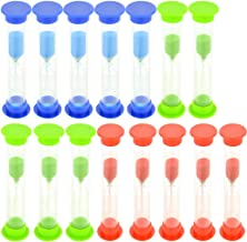 Swity Home 15 Pack 5 Minutes Plastic Sand Timer, Set of 15