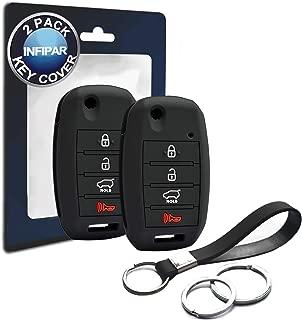 2pcs Compatible with Kia Flip 4 Button Silicone FOB Key Case Cover Protector Keyless Remote Holder for 2013-2019 Kia Forte Optima Rio Sedona Sorento Soul Sportage, TQ8-RKE-3F05 OSLOKA-910T OSLOKA-875T