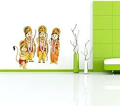 Rawpockets 'Lord Ram Sita Lakshmana Hanuman ' Wall Sticker (PVC Vinyl, 85 cm x 75cm)