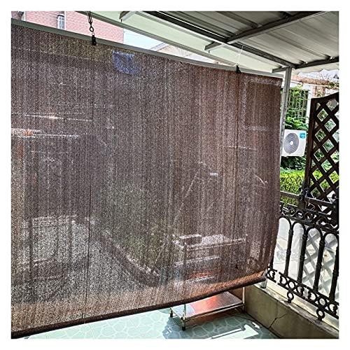 persianas de Bambu Marrón Exterior Persianas Enrollables, Enrollar Pantalla de Privacidad Sun Shade para Patio/Gazebo/Pérgola, Polietileno Cortinas de Ventana de Protección Solar