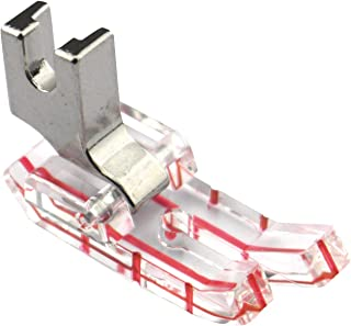 DREAMSTITCH 31461-L Clear View 1/4 inch Quilting Presser Foot for All Low Shank Snap-On Singer,Brother,Babylock,Euro-Pro,Janome,Kenmore,White,Juki,Simplicity,Elna Sewing Machine 602L