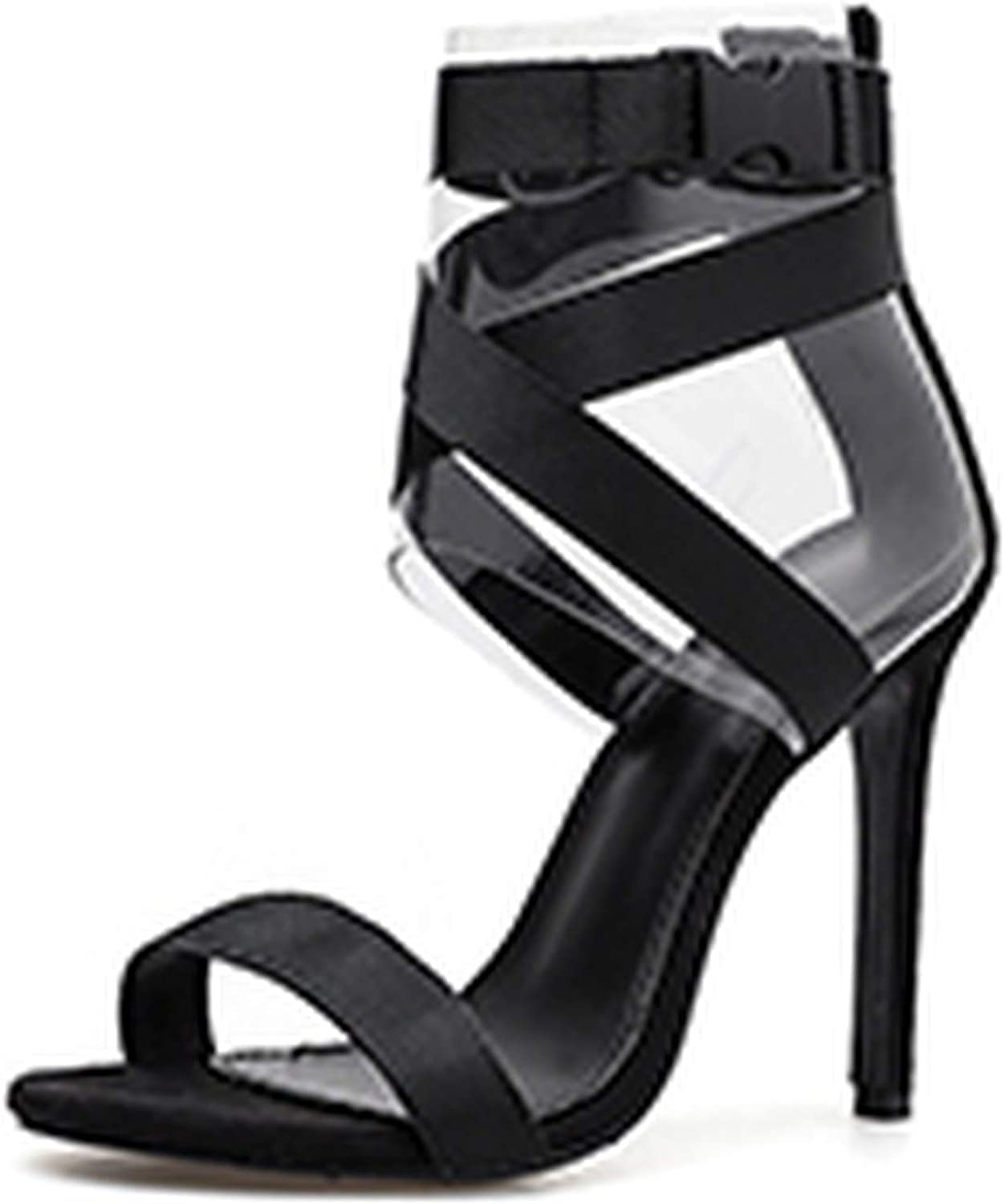 Ches Gladiator Buckle Strap Women Sandals Sexy Women Thin Heels Pumps Party shoes for Women 2019 New Size 35-40