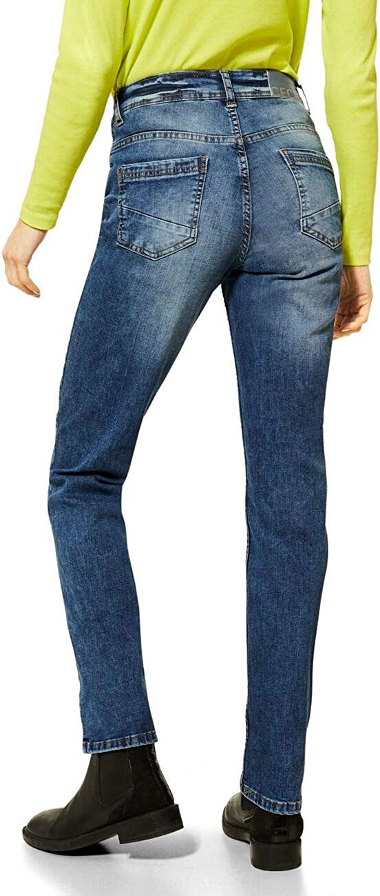 Cecil Jeans Femme Mid Blue Wash.
