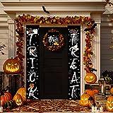 JoyTplay 3Pezzi Banner di Halloween, Dolcetto o Scherzetto Segno d'attaccatura di Halloween per Home Office Portico Porta d'ingresso (Nero)