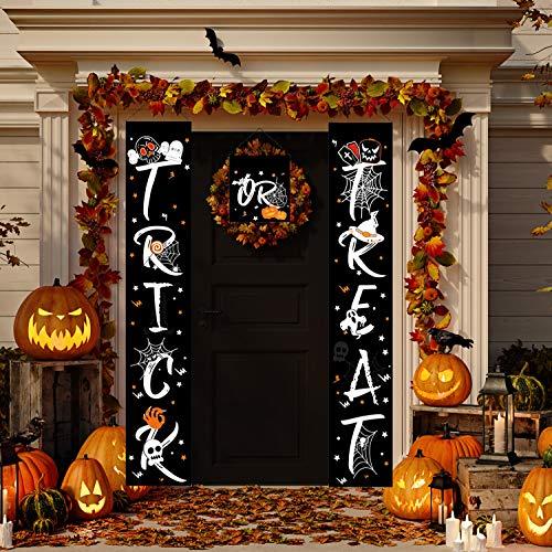 JoyTplay 3 stuks zoete of zure banner, Halloween banner hangen, teken slinger huisdeur voor Halloween, poort decoraties, Halloween en festivaldecoraties